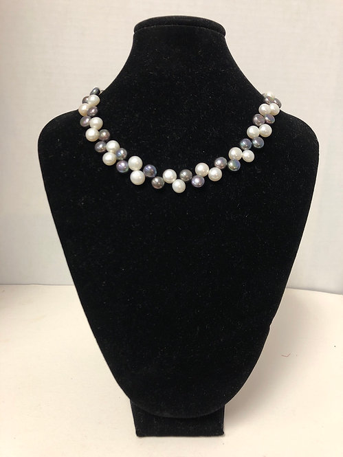 Freshwater Black and White Pearls