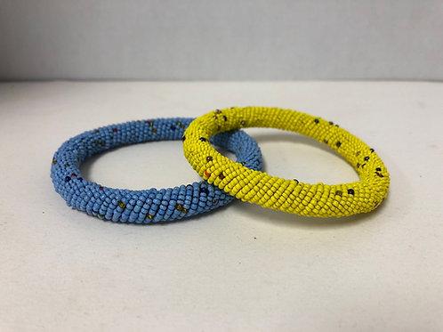 African Massai Bangle Bracelets (Yellow)