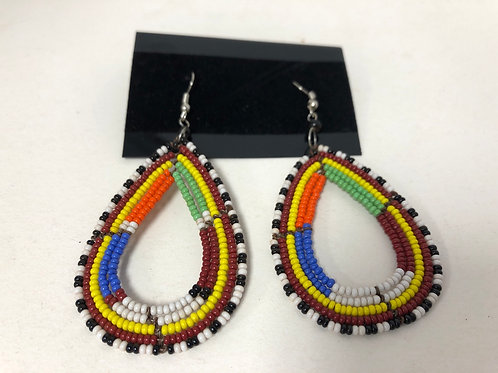 Massai Beaded Tear drop Earrings