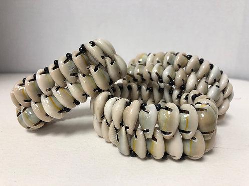 Double-Row Cowrie Shell Bracelet
