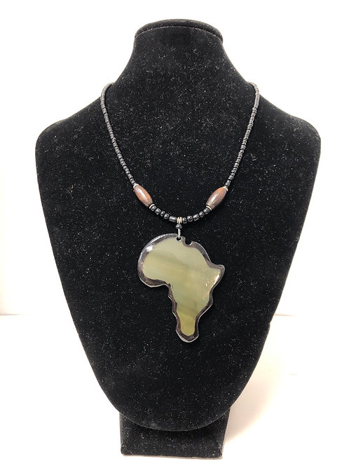 Africa-shaped Shell Necklace