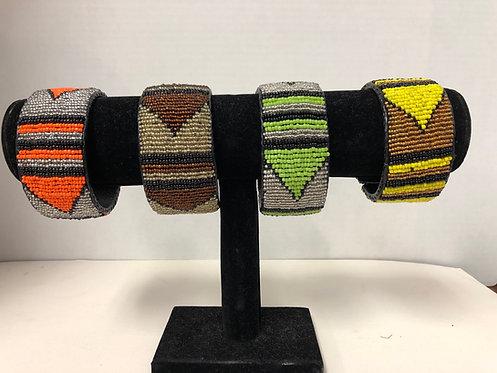 Massai Beaded Bracelet Wrap Around (Yellow)