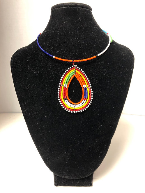 Kenyan Massai Tear-Drop Choker (Multicolor)