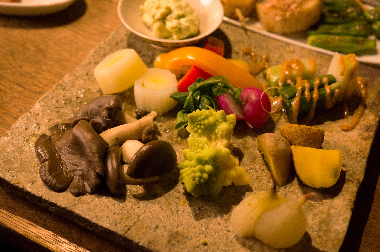 温野菜の盛り合わせ