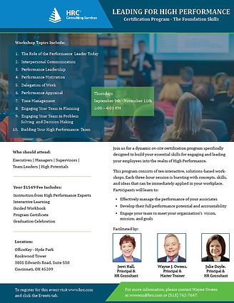 Leading with High Performance Flyer FINA