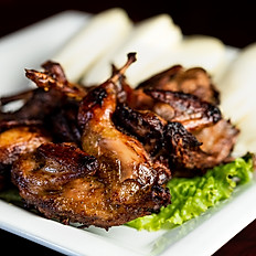 House Special Roasted Quail Served with Steamed Buns