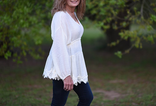 Ivory Peasent Blouse