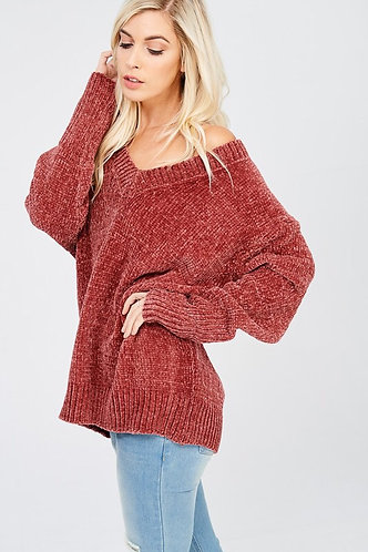 Brick Chenille Sweater