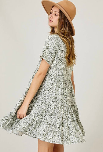 Daisy Floral Tiered Dress