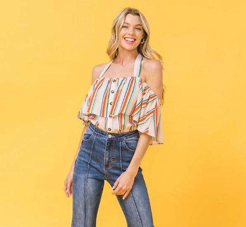 Summer Stripes Crop Top