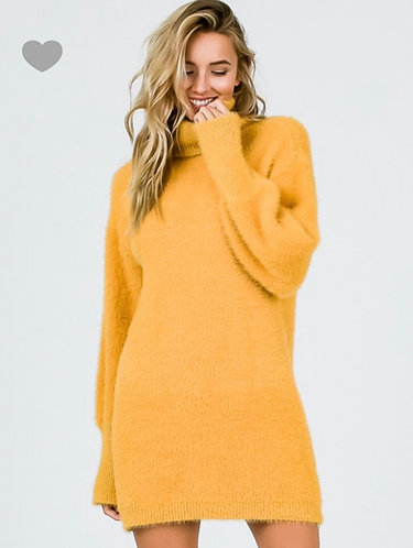 Mohair Turtleneck Dress