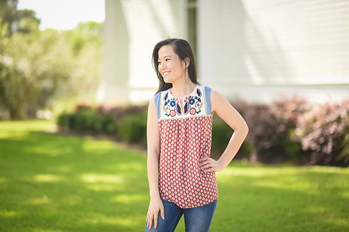 Moriah Embroidered Top