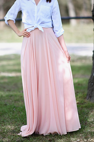 Pretty In Pink Maxi Skirt