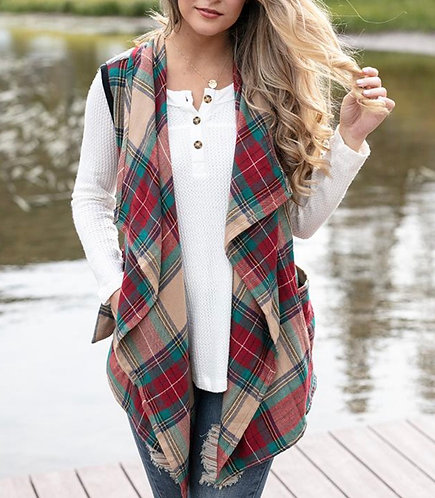 The Winter Plaid Vest