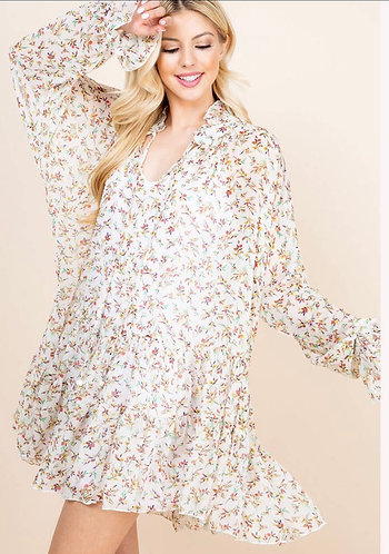 Sweet Chiffon Babydoll Dress