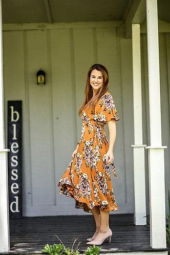 Whitney Floral Wrap Dress