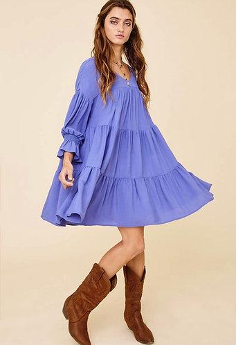 Denim Blue Baby Doll Dress