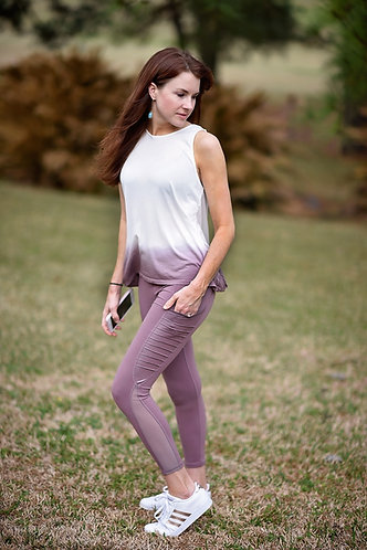 Mauve Motto Leggings