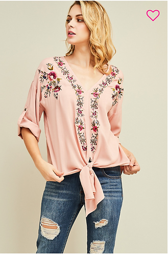 Floral Lines Top