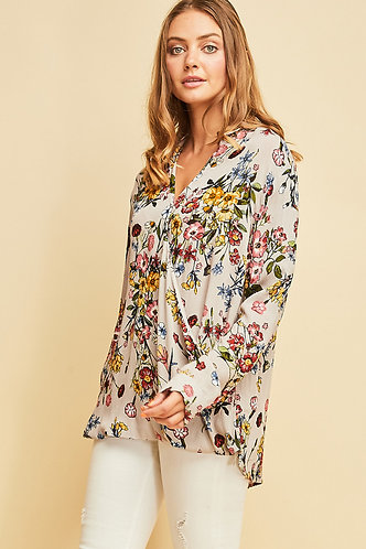 Floral and Free Top