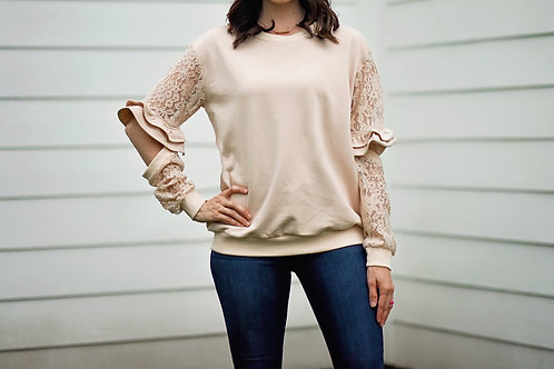 Lacy Sleeved Top