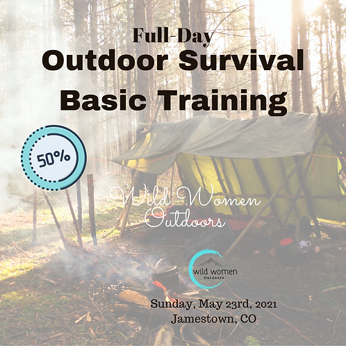 50% Full-Day Outdoor Survival Training - May