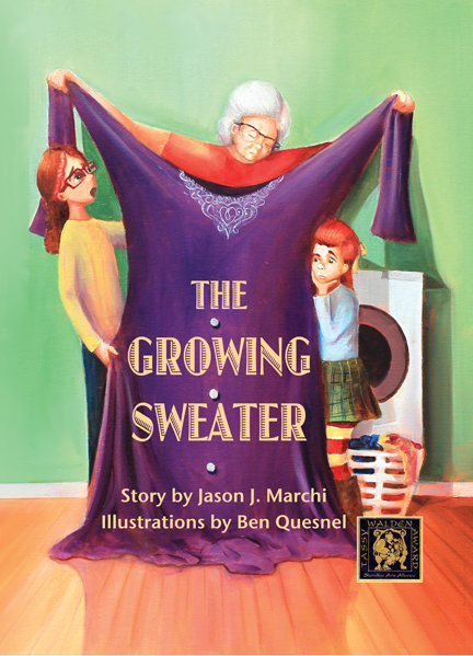 The Growing Sweater, hardcover book