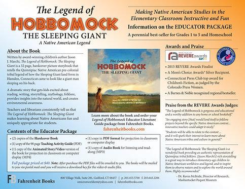 Legend of Hobbomock Educator Package