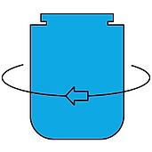Congelador inferior - Interior arriba de