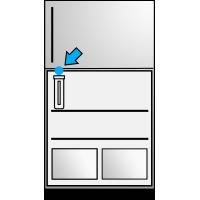 Congelador superior - Interior arriba iz
