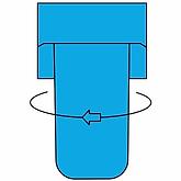 2 - Montaje externo - Girar para retirar