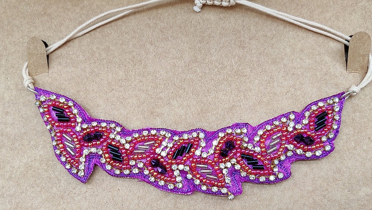 Stitched Bead Necklace