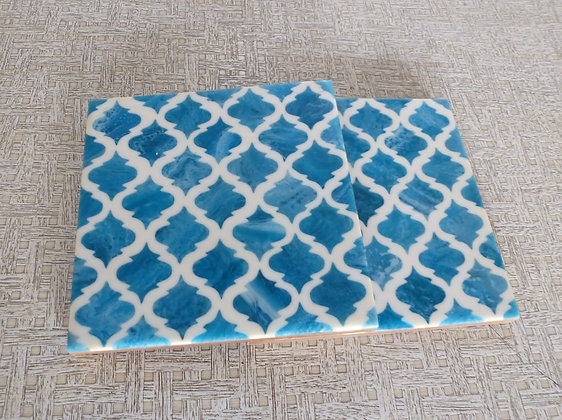 Pair of Sky Blue Coasters