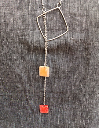 Resin Lariat Necklace