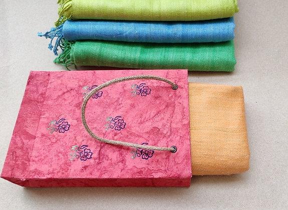 Hand-Spun and Hand-Woven  Eri Silk Scarf