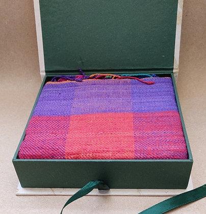 Hand-Spun Eri Silk Scarf in Handmade Box