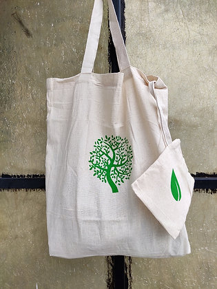 Organic Cotton Bag in a Pouch