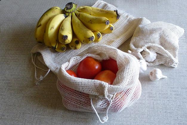 FRUIT and VEGGIE BAG Set of 3