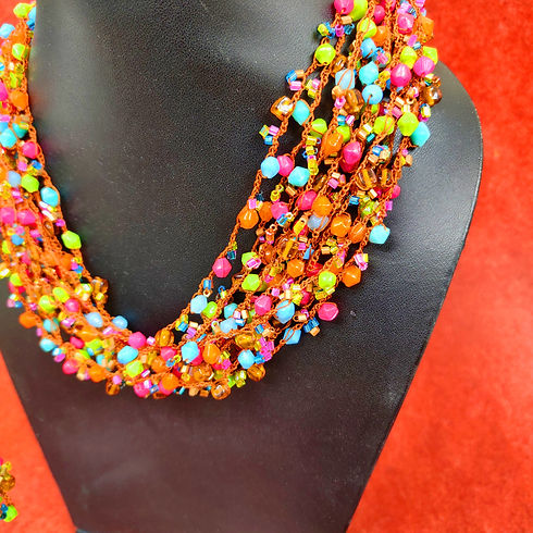 multichain brightly coloured Necklace..j