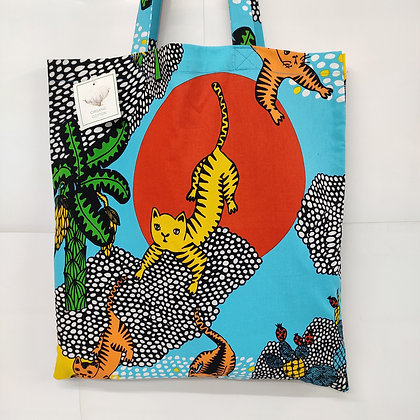 Brightly Coloured Printed Organic Cotton Tote Bag