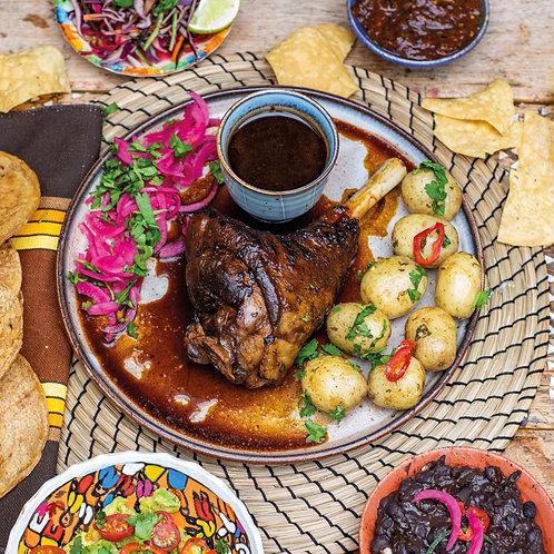 Barbacoa Lamb Shank with Snacks, Garnishes & Sides