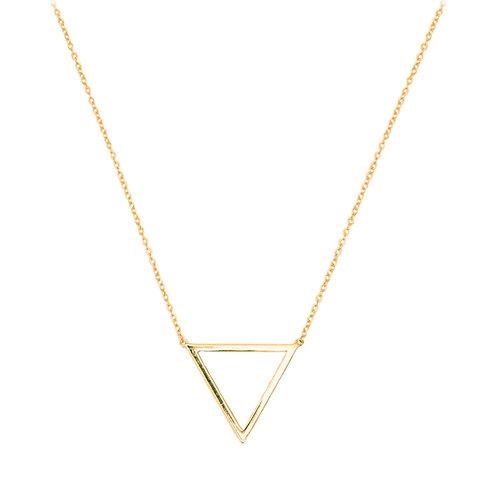 Collar Triángulo Oro