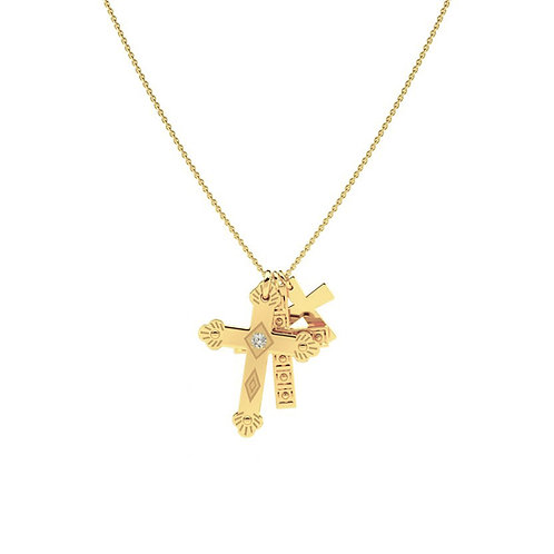 Collar Tres Cruces Oro