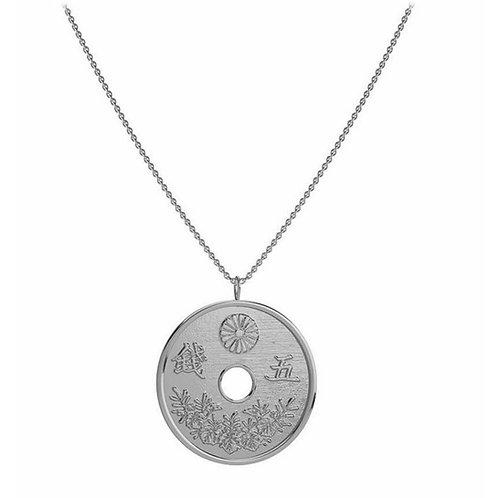 Collar Moneda Plata