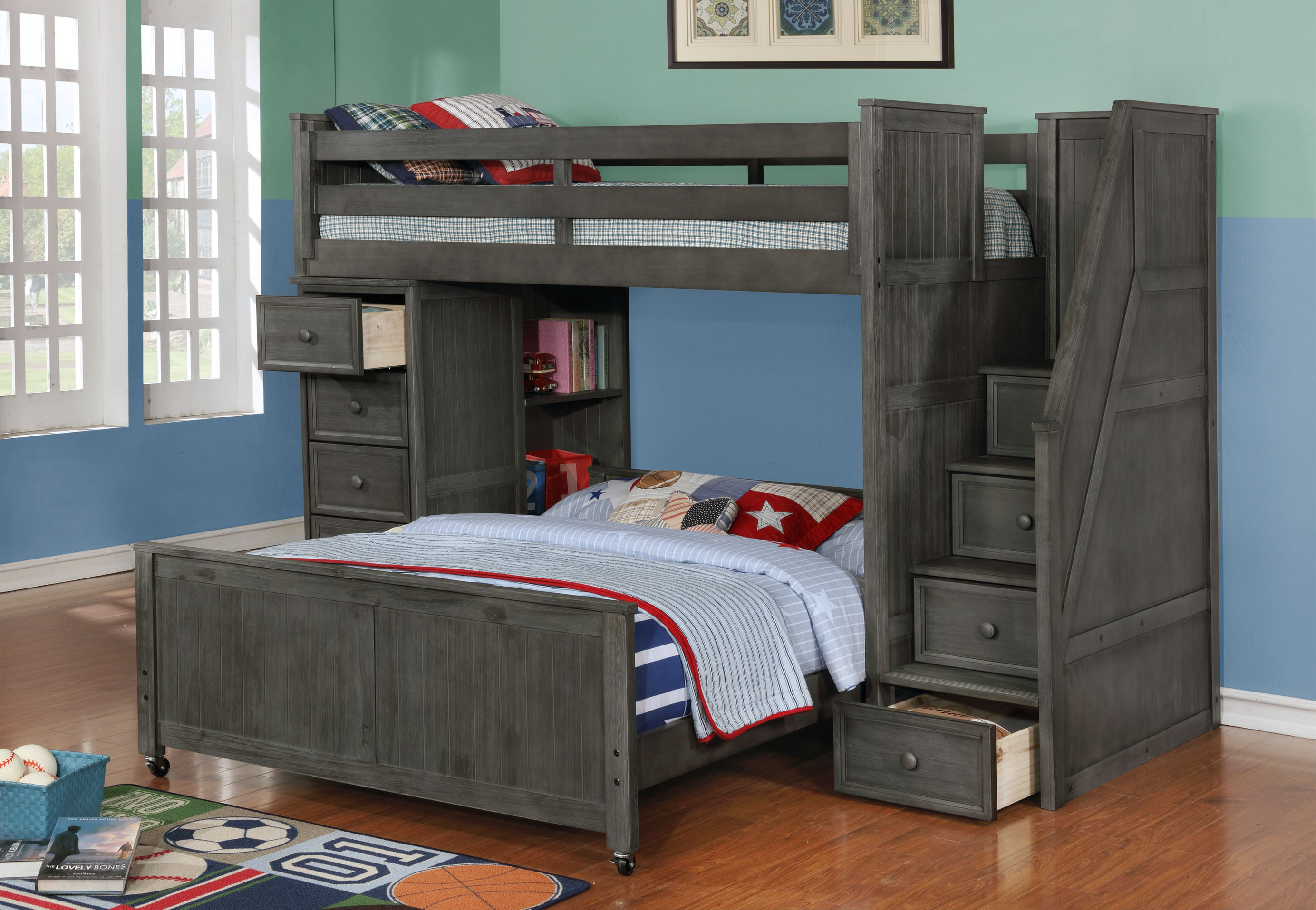 Multifunction Twin over Full Loft Weathered Grey