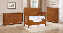 Waterford Panel Toddler Bed Conversion Kit with Waterford Collection Rustic Pecan