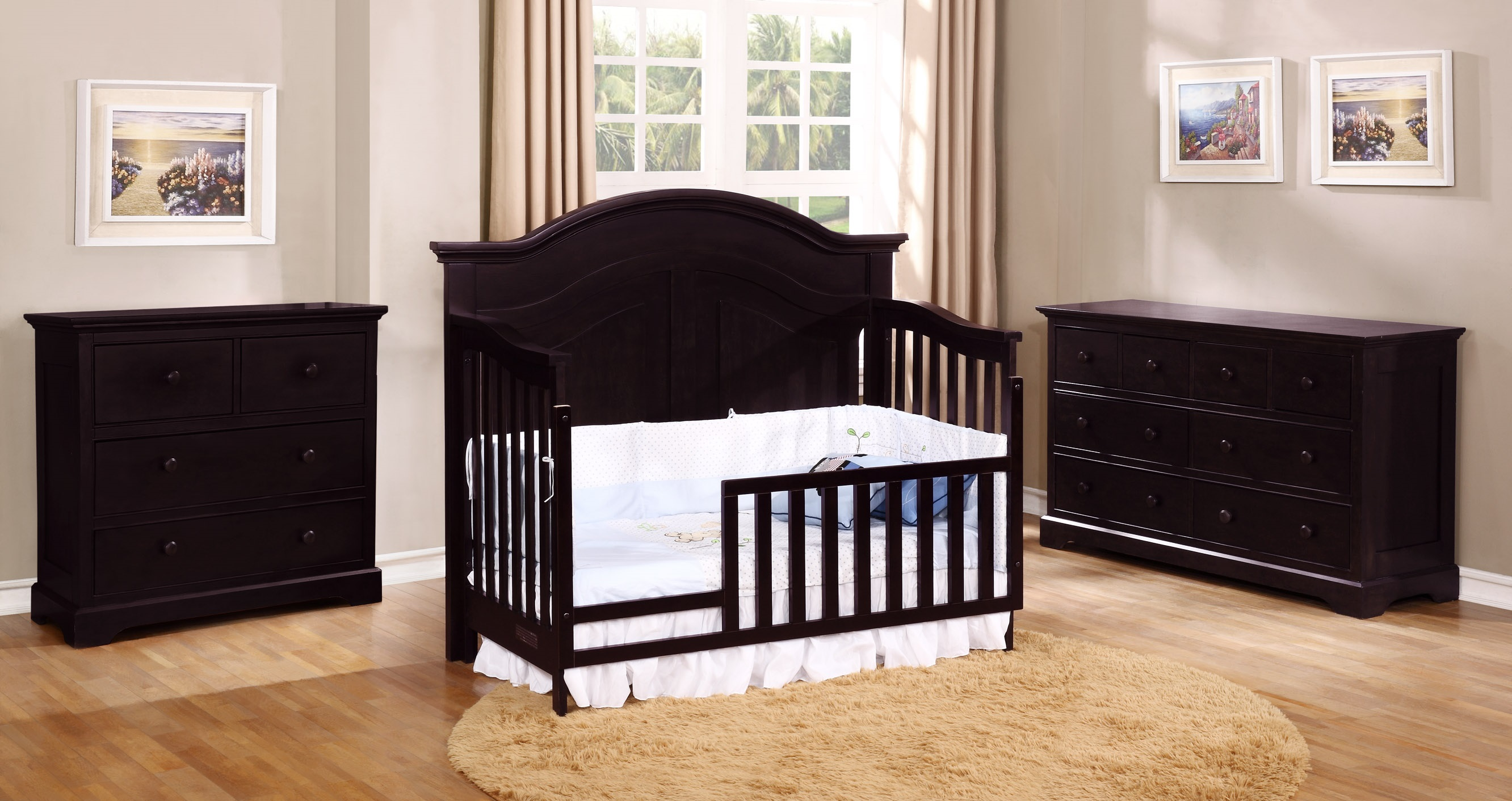 Waterford Curved Panel Toddler Bed Conversion Kit with Waterford Collection Espresso
