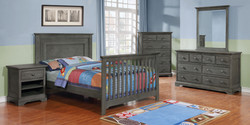 Waterford Panel Full Bed Conversion Kit with Waterford Collection Weathered Grey