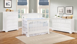 Jordan Conversion Crib with Waterford Collection White