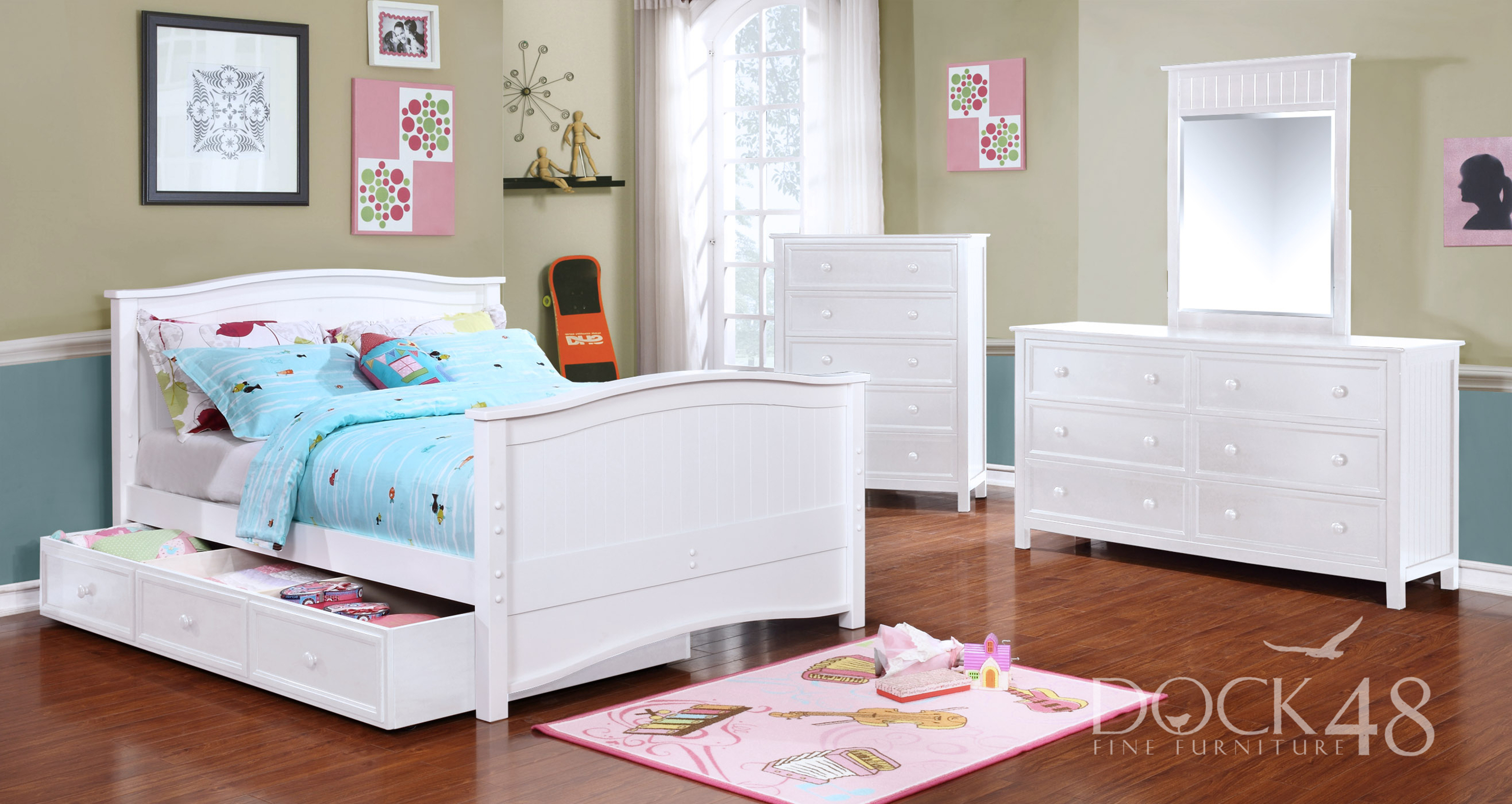 Ashton Full Bed with Summerlin Collection White